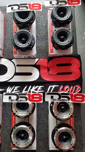 Ds18 Bullet twitters brand new $30 for a set of (2)/Tweeter de bala ds 18 a $30 el par (2) Nuevos for Sale in Houston, TX