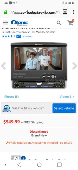 """Pioneer AVH-P5700DVD DVD/CD receiver with 6.5"""" LCD monitor for Sale in Fontana, CA"""