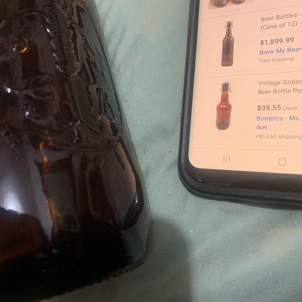 Antique beer bottle