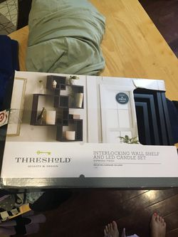Interlocking Wall shelf and candle set for Sale in Brooklyn,  NY