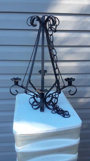 Black metal decorative chandelier 4 candles for Sale in Lexington, KY