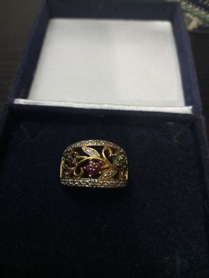 Genuine gem stone ring in silver for Sale in Akron, OH