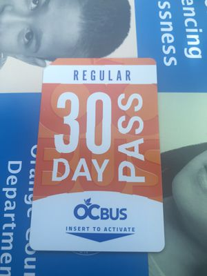 Adult 30 Day Pass /Pase para Adulto 30 días for Sale in Santa Ana, CA