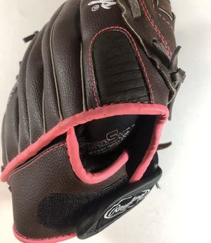 """Rawlings Fast Pitch Softball Glove 11"""" Brown Pink Youth Girls FP11T Righty for Sale in Chino, CA"""