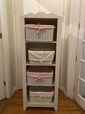 White Shelves Bookcase Shelf Case POTTERY BARN KIDS Baskets for Sale in New York, NY