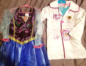 Girls princess Anna and doc mcstuffins Halloween costume size 4-6 for Sale in Mansfield, TX