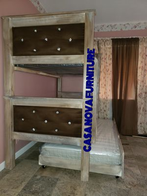 BRAND NEW BUNK BED FRAME TWIN/TWIN OVER TWIN 📢📢📢📢📢📢MATTRESS INCLUDED 📢📢📢📢📢AVAILABLE FOR SAME DAY DELIVERY OR PICK UP 📢📢📢📢📢 for Sale in Compton, CA