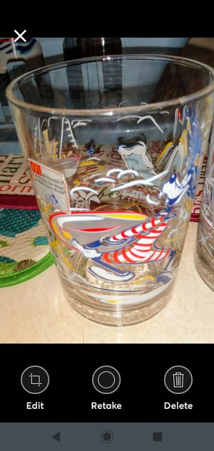 Disney collectible glasses never used set of 3 for Sale in Leesburg, FL