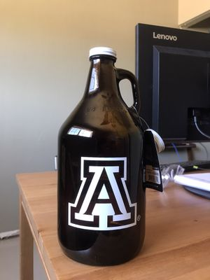 U of A glass growler for Sale in Scottsdale, AZ