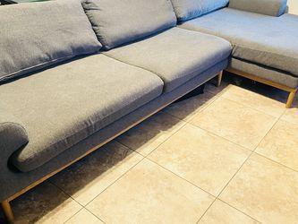 Copenhagen Modern Grey Sectional Chaise Couch  for Sale in Phoenix, AZ