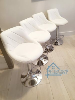 Modern Adjustable Barstools, bar stools, kitchen dining chairs, counter height with chrome base. Colors: Black, Red, White, Gray, Brown for Sale in Fort Lauderdale, FL