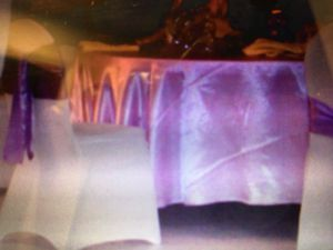 10 Round Lavender table cloths, 90 cloth napkins and 100 purple chair ties for Sale in Port St. Lucie, FL