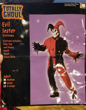 Evil Jester Halloween costume. XL for Sale in Avondale, AZ
