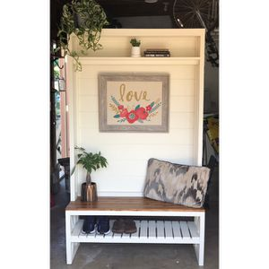 Shiplap Hall Tree Bench for Sale in San Diego, CA