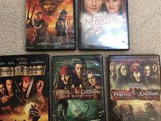 DVDs Mummy, Finding Neverland, Pirates Of The Caribbean for Sale in Issaquah,  WA