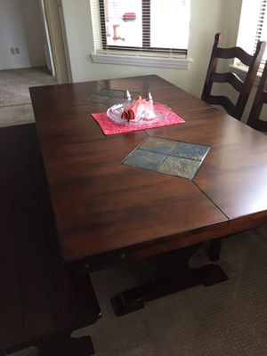 Dining Table, (5) Chairs and Bench for Sale in Payson, AZ