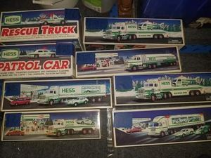 Collection off hess toys from 1990s to 2000s never opened for Sale in Runnemede, NJ