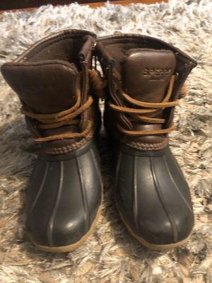 Little girls sperry boots size 11 for Sale in Andover, MA