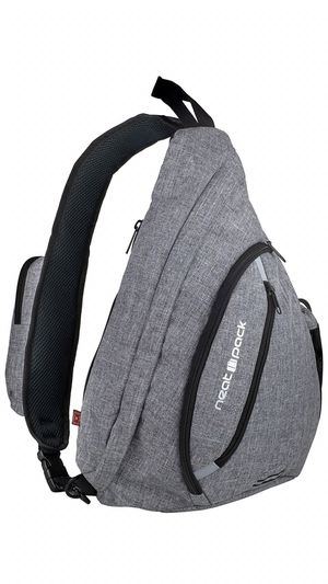 Versatile Canvas Sling Bag/Urban Travel Backpack, Grey | Wear Over Shoulder or Crossbody for Men & Women, by NeatPack for Sale in Kansas City, MO