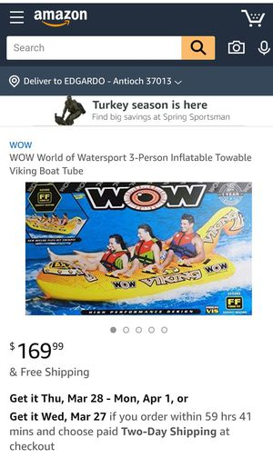 3-Person Inflatable Towable Viking Boat Tube for Sale in Nashville, TN