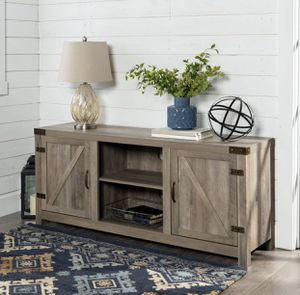 TV stand console - grey wash NEW for Sale in Taylor, MI