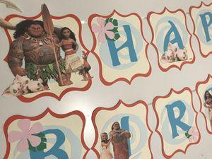 Custom Birthday Banners decor . Moana , Lilo and Stitch, Toy Story, Paw Patrol, Sesame Street, Ariel for Sale in Woodbridge, VA