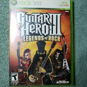 Guitar Hero 3 Legends Of Rock 3 Xbox 360 Game Complete for Sale in Burbank, CA