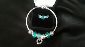 Turquoise sapphire ring w/blue charm bra for Sale in Oak Lawn, IL