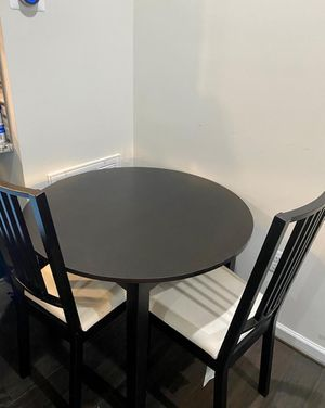 Wooden round table and chairs for Sale in Herndon, VA