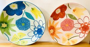Artistic Floral Dinner/Salad Plates for Sale in Long Beach, CA