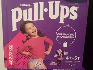 Huggies pull ups 4t-5t 40 count for Sale in Austin, TX