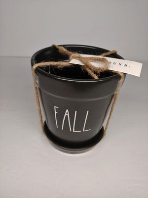 NEW! Rae Dunn FALL Black Small Flower Pot for Sale in Fountain Valley, CA