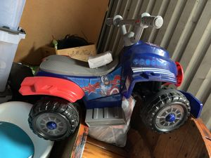 Captain America power wheel with charger for Sale in San Francisco, CA