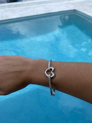 Silver heart bracelet for Sale in Davie, FL
