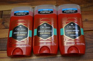 3x Old Spice Red Zone Collection Men's Deodorant Pure Sport Victory & Cedarwood for Sale in City of Industry, CA