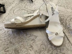 Michael Kors women's size 5 white wedges for Sale in Winter Haven, FL