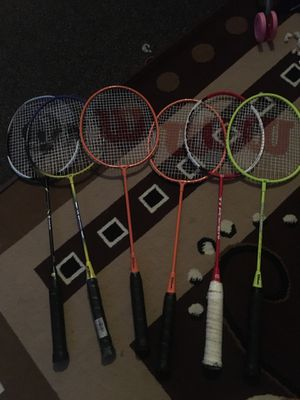 6 badminton rackets.. 4 Wilson and 2 others for Sale in Dublin, CA