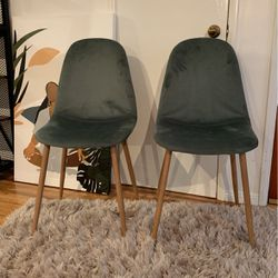 Sage Green Velvet Accent Or Dining Chair (set of 2) for Sale in Marina del Rey,  CA
