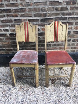 Pair of vintage wood chairs for Sale in Chicago, IL