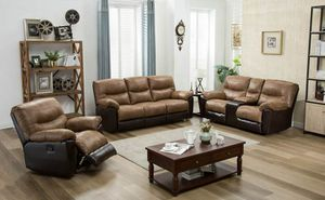 3 piece reclining set for Sale in Houston, TX
