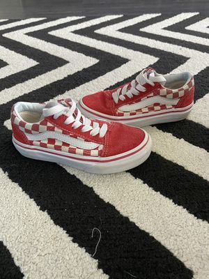 Red Checkered Vans for Sale in Tomball, TX