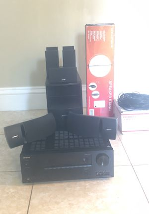 Bose acoustimass with onkyo TX-SR444 and 2 extra bose 161 speakers for Sale in Port St. Lucie, FL