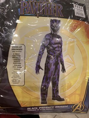 Black Panther Halloween Costume Boys size Medium for Sale in Orlando, FL