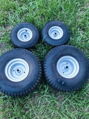 Riding Lawn Mower Tires (15 x 6.00)(20 x 8.00) Rims Wheels for Sale in Longwood, FL