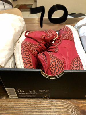 Jordan 1 Retro high tops size 3 youth for Sale in Mesquite, TX