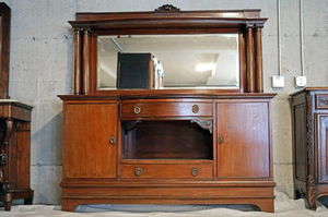 Fantastic Antique Italian Umberto Buffet with a Large Beveled Mirror - Delivery Available for Sale in Tacoma, WA