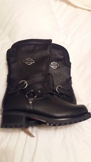 Harley Davidson lether boots for Sale in Manassas Park, VA