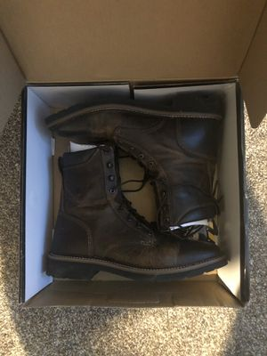 Justin boots stamped work boots size 12D for Sale in Saint Charles, MO