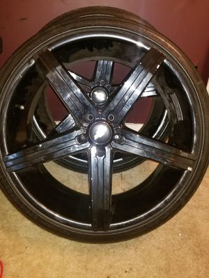 """22"""" Rims and Tire package for Sale in Columbia, MD"""