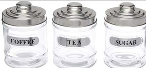 Glass Kitchen Canister Coffee & Sugar Storage Jar kitchen decoration for Sale in Cerritos, CA